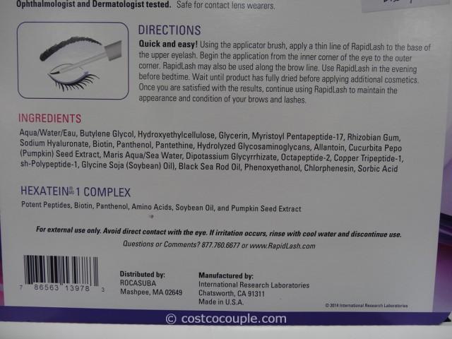 RapidLash Eyelash and Eyebrow Enhancing Serum Costco 4