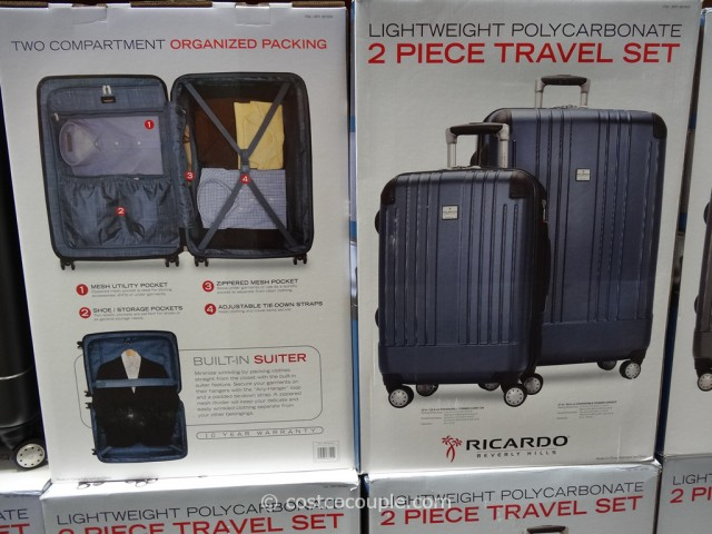 Ricardo 2-Piece Polycarbonate Hardside Spinner Set Costco 3