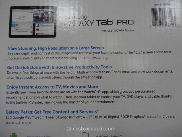 Samsung Galaxy Pro 12.2-Inch Tablet Costco 5