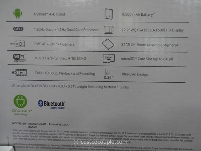 Samsung Galaxy Pro 12.2-Inch Tablet Costco 6