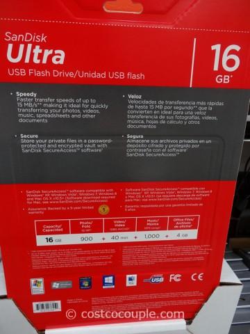 Sandisk 16GB Cruzer USB Flash Drive Costco 3