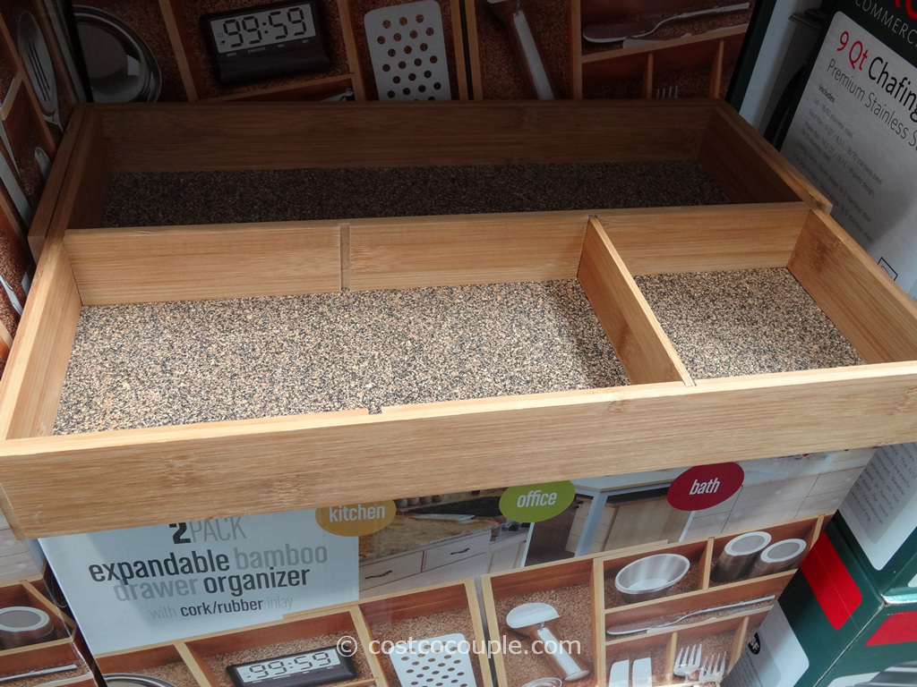 Seville Classics Bamboo Drawer Organizer Set Costco 2