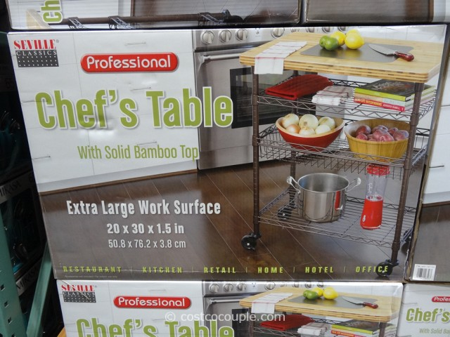Seville Classics Chefs Table With Bamboo Top Costco 2