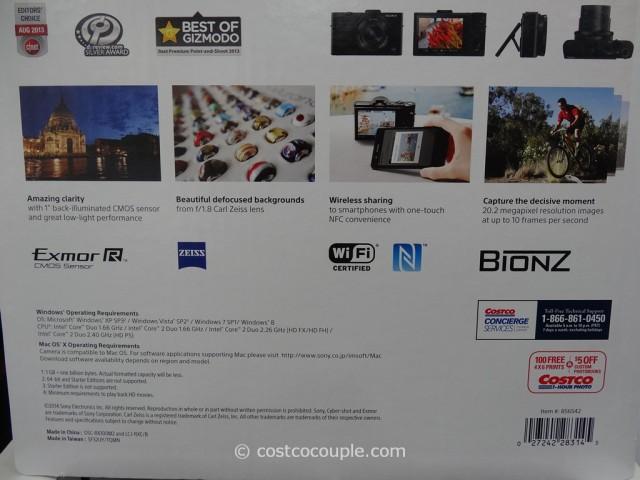 Sony Cybershot RX100M2 Costco 4