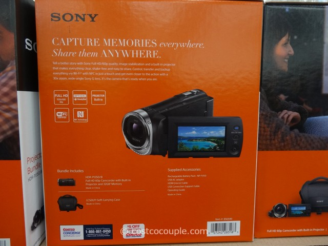 Sony Projector Comcorder Set HDR-PJ350 Costco 1