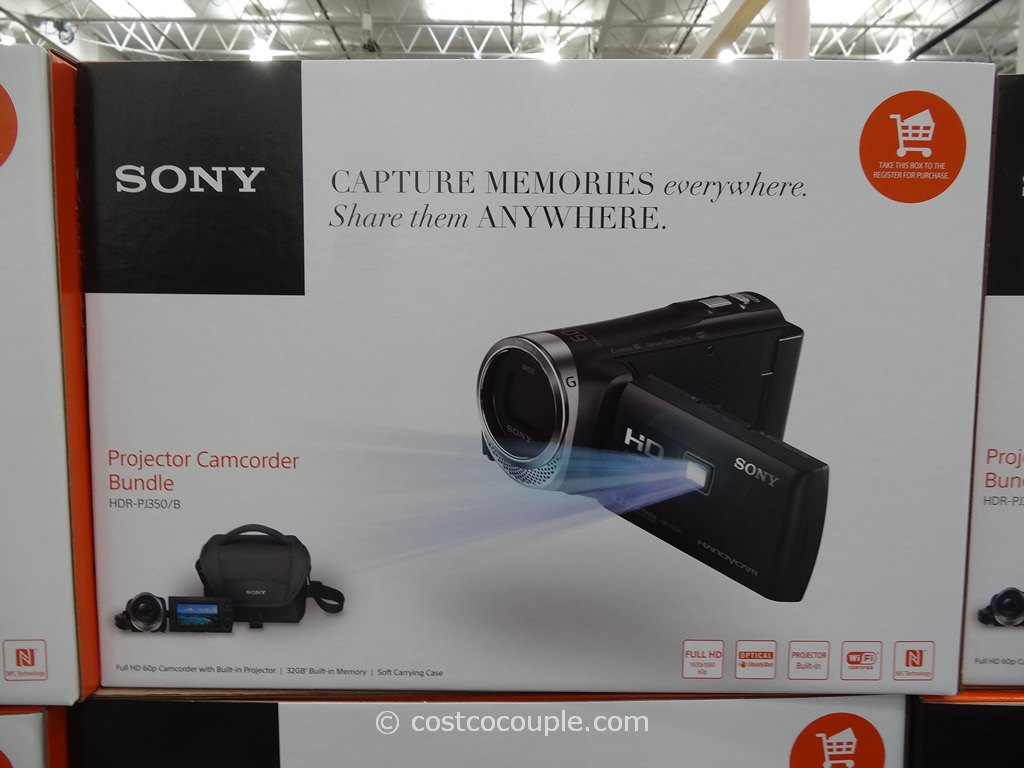 Sony Projector Comcorder Set HDR-PJ350 Costco 2