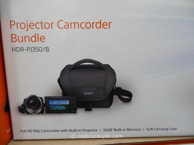 Sony Projector Comcorder Set HDR-PJ350 Costco 3