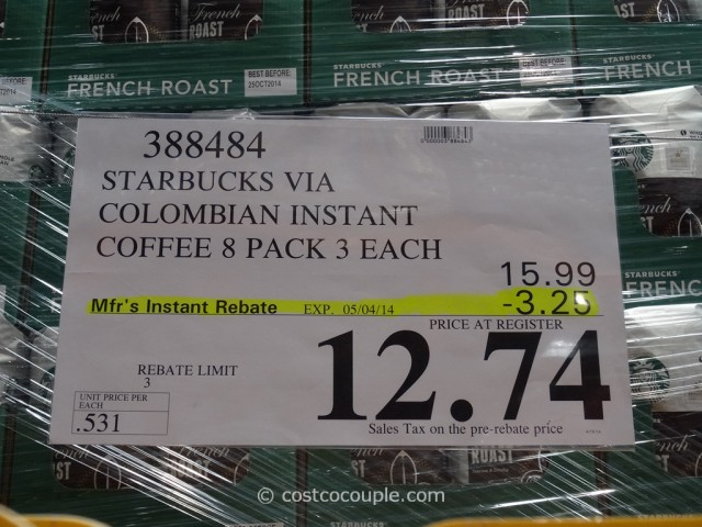 Starbucks VIA Colombian Instant Coffee Costco 1