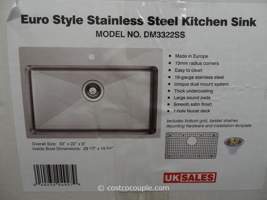 Kitchen Sink Costco : Ukikok Euro Style Stainless Steel Kitchen Sink Costco 1