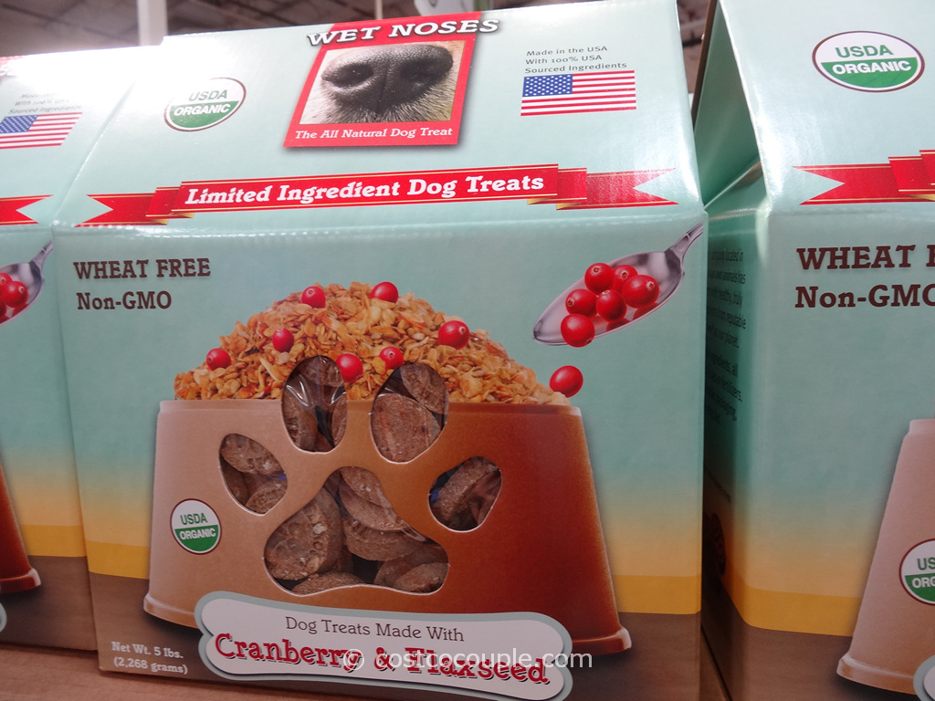 Wet Noses Organic Cranberry and Flaxseed Dog Treats Costco 1