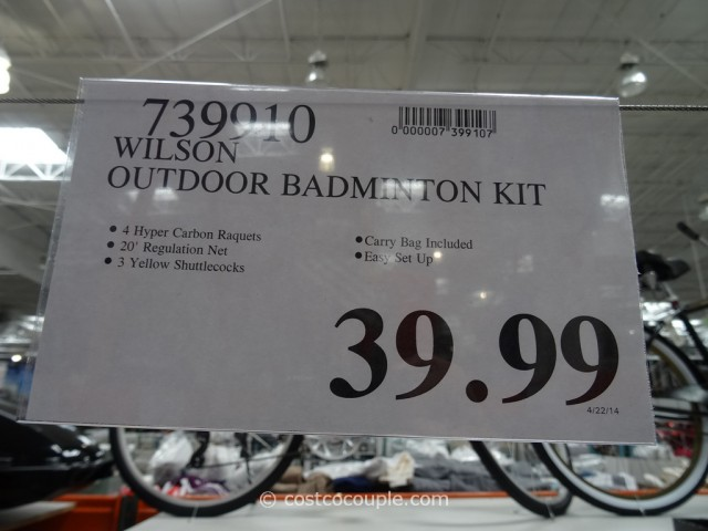 Wilson Outdoor Badminton Kit Costco 1