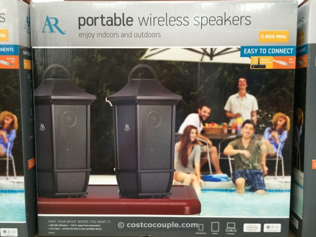 Acoustic Research Indoor Outdoor Portable Speakers Costco 3