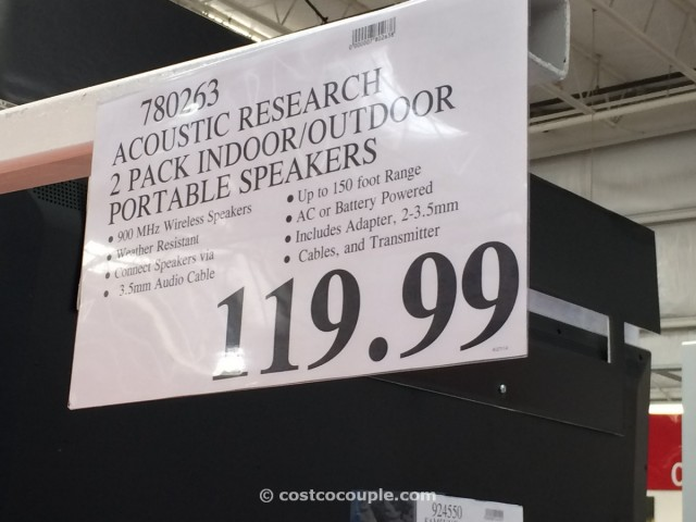 Acoustic Research Indoor Outdoor Portable Speakers Costco 4
