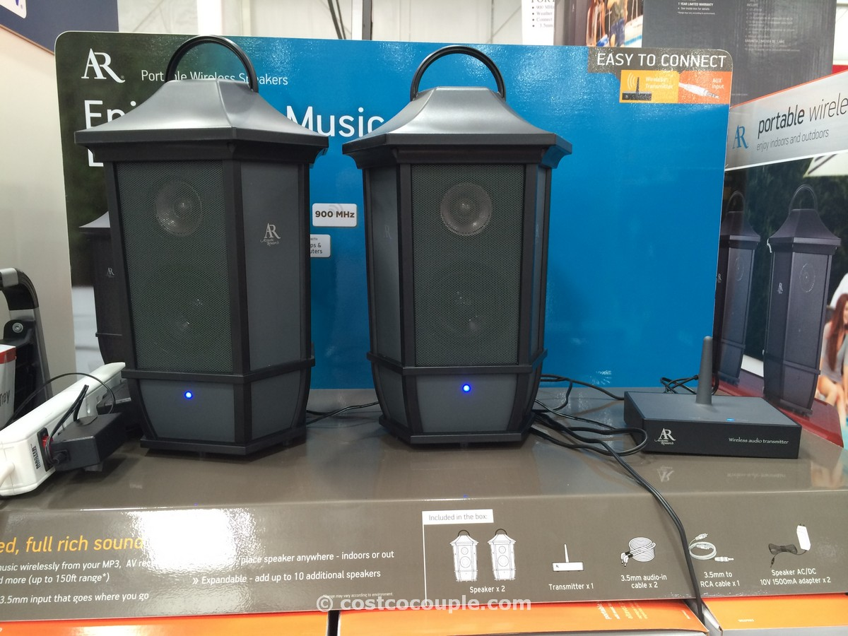 Acoustic Research Indoor Outdoor Portable Speakers Costco 5