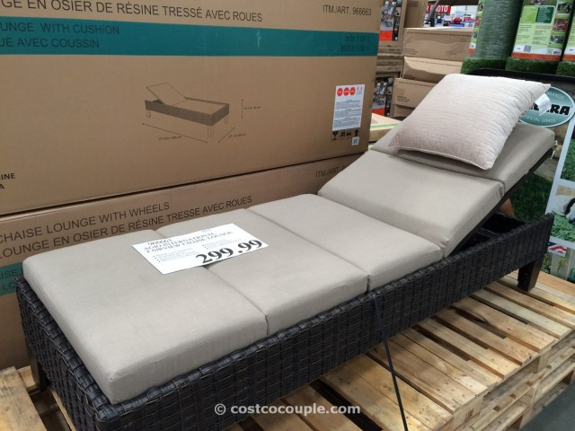 Patio lounge furniture costco chairs seating for Agio sling chaise lounge