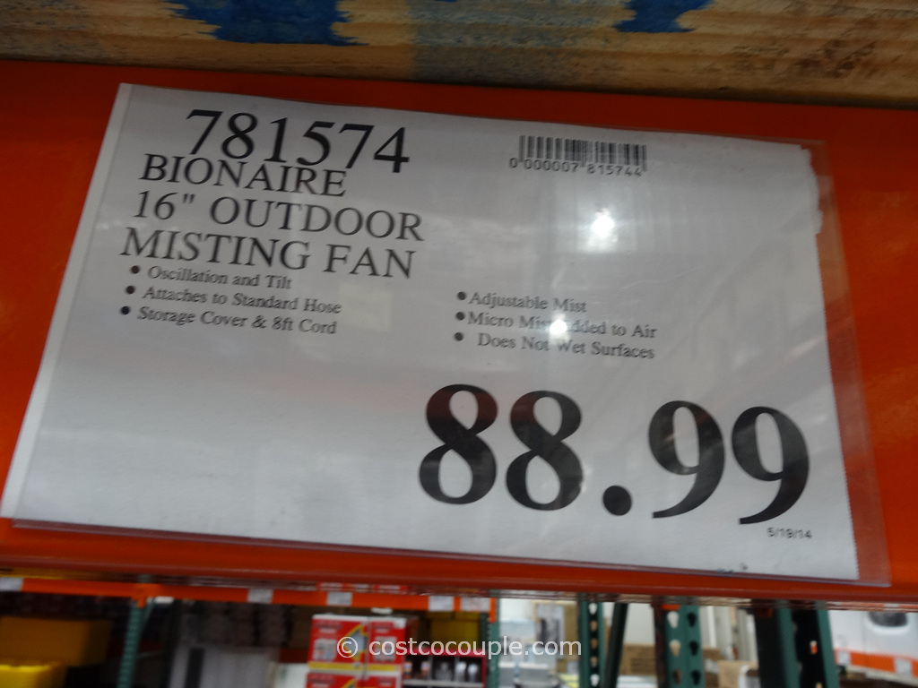 Fans At Costco : Bionaire inch outdoor misting fan