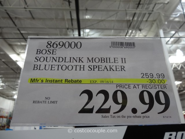 Bose Soundlink Mobile II Costco 9