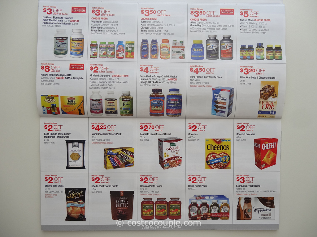 Costco April's coupon book in is out now, the deals valid from Thursday 04/19/18 – Sunday 05/13/ This Costco coupon book is for member-only savings that shows you the latest products and deals that you can earn instant savings when you shop at Costco with these coupons.