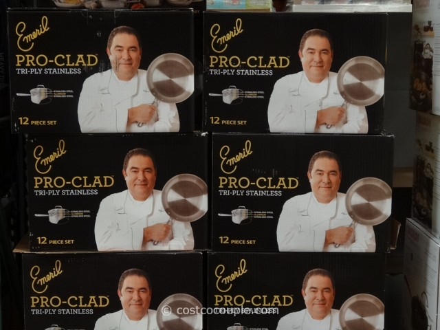 Emeril By All-Clad 12-Piece Stainless Steel Cookware Set Costco 3