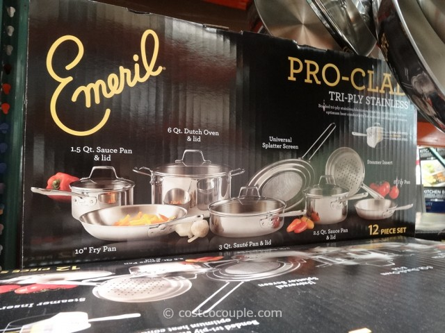 Emeril By All-Clad 12-Piece Stainless Steel Cookware Set Costco 4