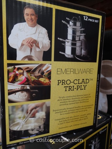 Emeril By All-Clad 12-Piece Stainless Steel Cookware Set Costco 5