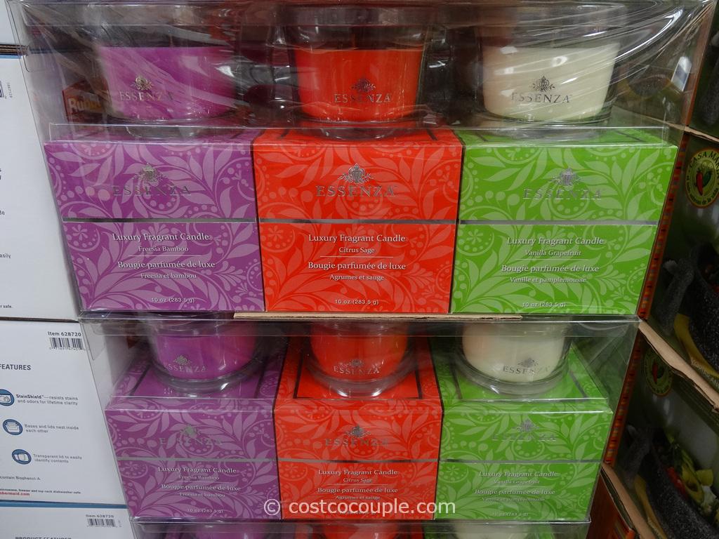 Essenza 3-Pack Glass Jar Candle Costco 2