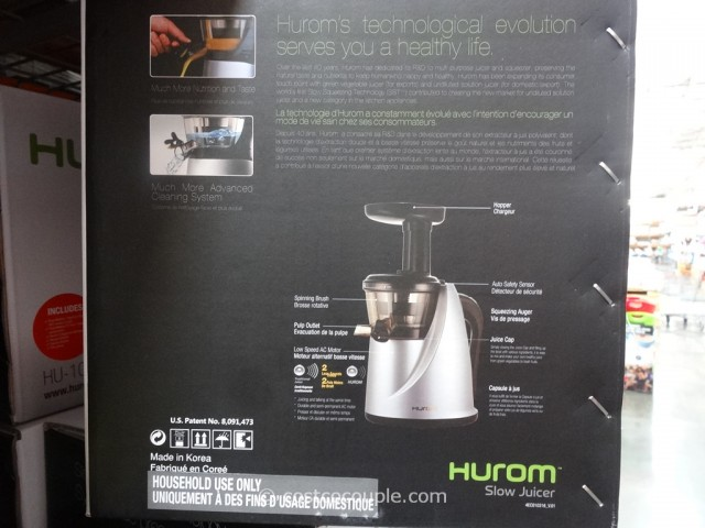 Hurom Slow Juicer With Tofu Maker And 2 Fruit Strainers : Hurom Slow Juicer