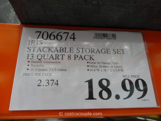 Iris Stackable Storage Set Costco 1