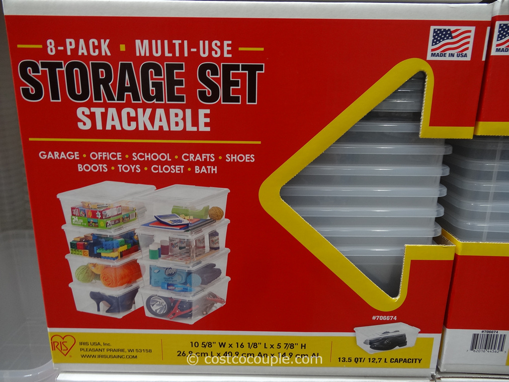Iris Stackable Storage Set Costco 2