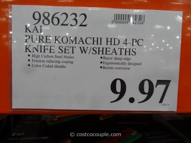 Kai Pure Komachi Knife Set Costco