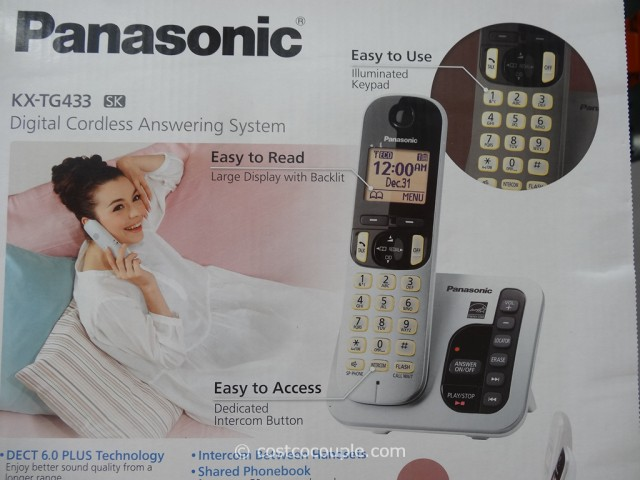 Panasonic 3-Handset Cordless Answering System Costco 2
