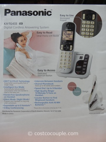 Panasonic 3-Handset Cordless Answering System Costco 4
