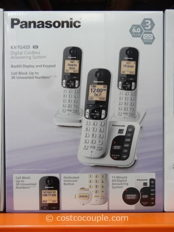 Panasonic 3-Handset Cordless Answering System Costco 5