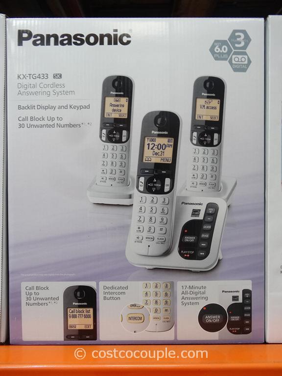 Panasonic 3-Handset Cordless Answering System Costco 5