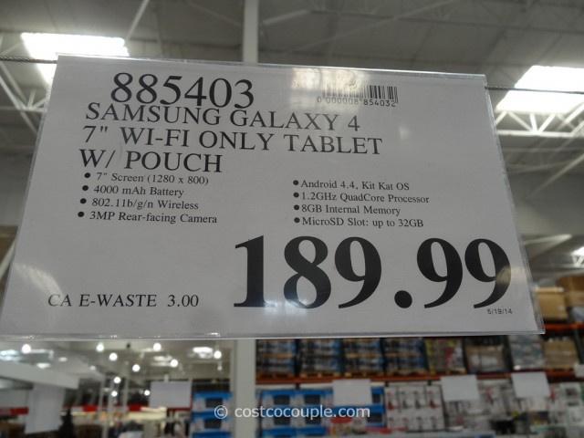 Samsung Galaxy 4 7-Inch Tablet Costco 1