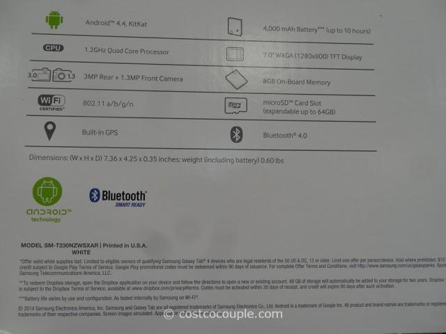 Samsung Galaxy 4 7-Inch Tablet Costco 3