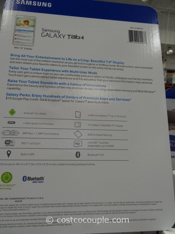 Samsung Galaxy 4 7-Inch Tablet Costco 4