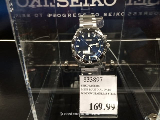 Seiko Kinetic Mens Blue Dial Date Costco 1
