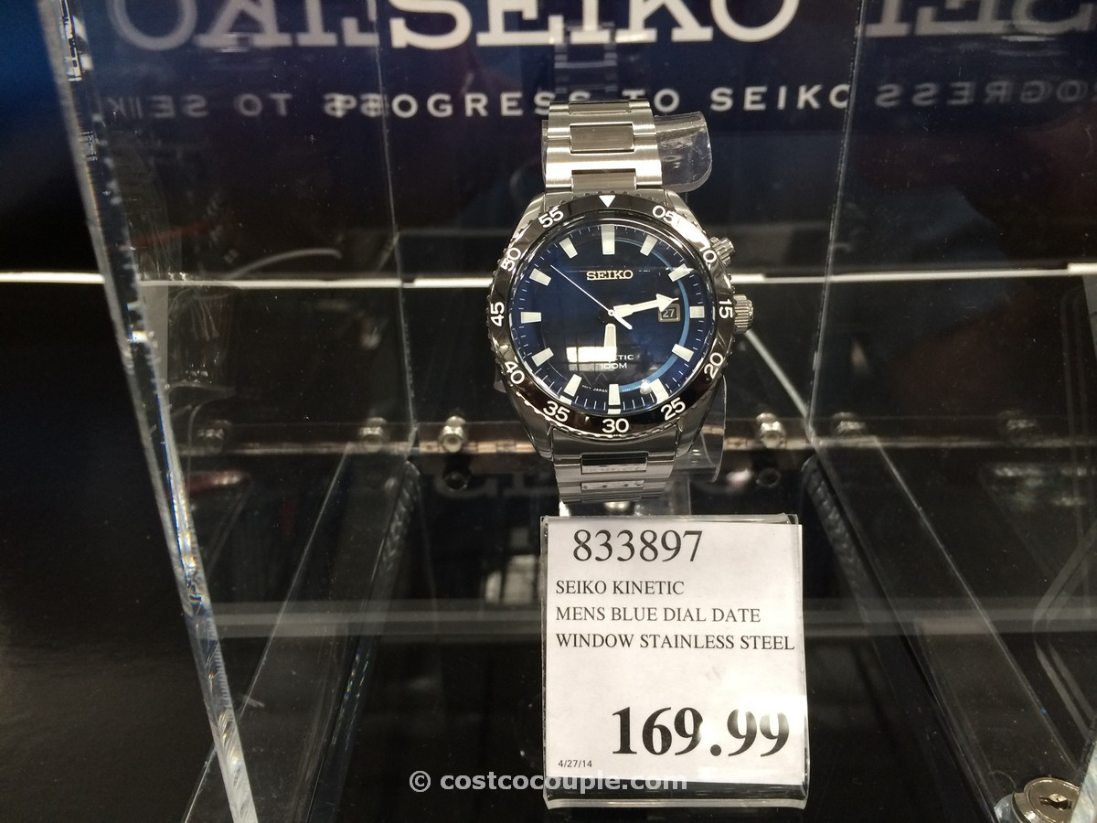 Seiko Kinetic Men S Blue Dial Date Watch