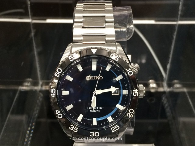 Seiko Kinetic Mens Blue Dial Date Costco 6