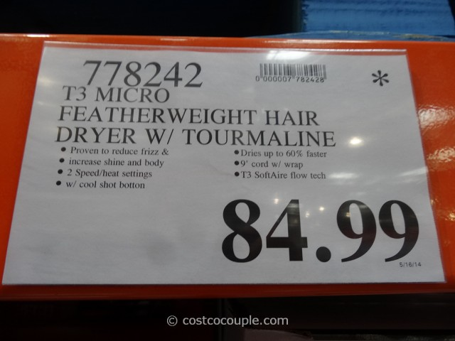T3 Micro Featherweight Hair Dryer Costco 5