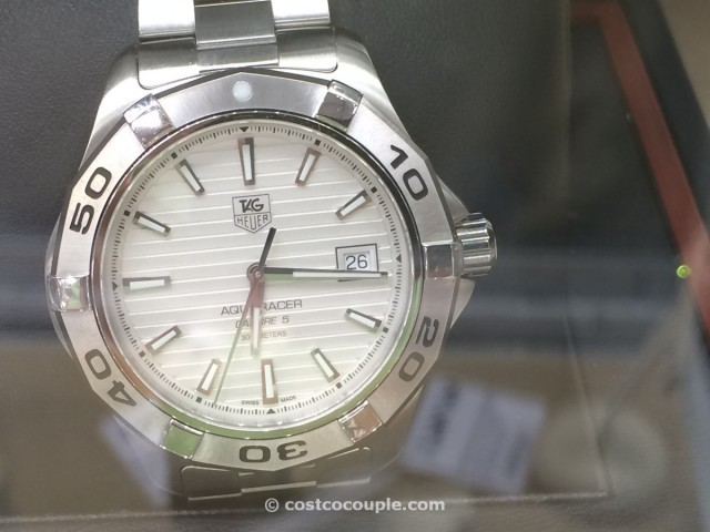 TAG Heuer Mens Aquaracer Silver Dial Costco 3