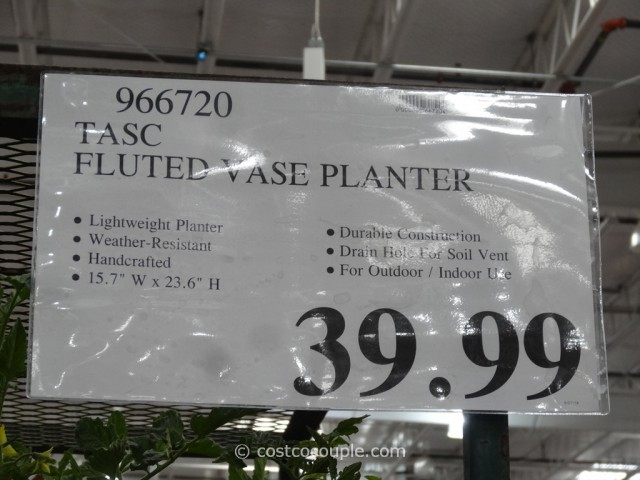 Tasc Fluted Vase Planter Costco 1