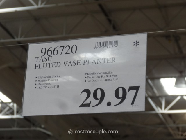 Tasc Fluted Vase Planters Costco