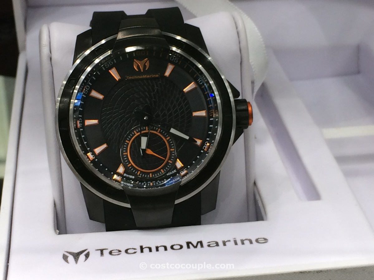 Technomarine UF6 Black Rubber Strap Costco 2