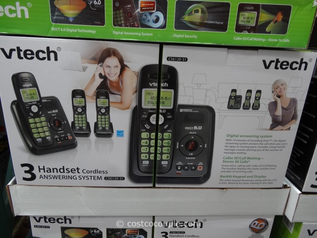 VTech 3 Handset Cordless Phone Costco 5