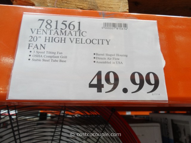 Ventamatic MaxAir High Velocity Fan Costco 3