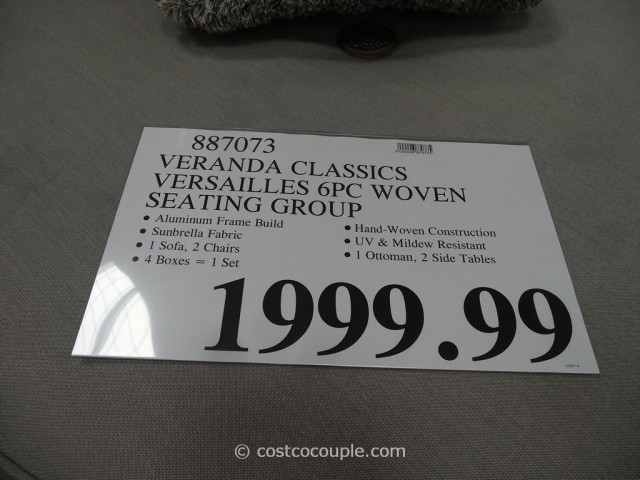 Veranda Classics Versailles Woven Seating Group Costco 1