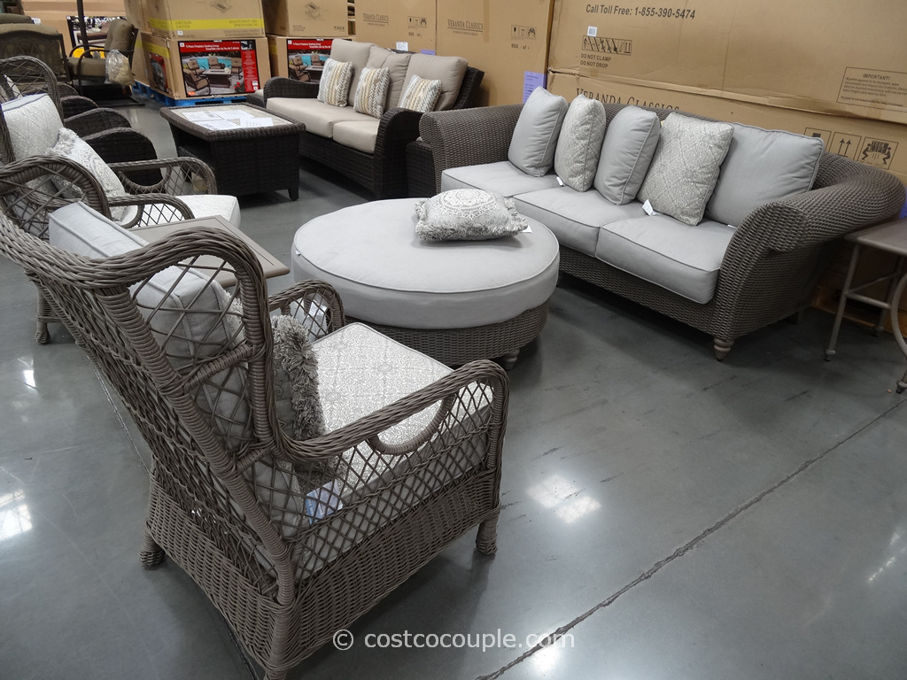 Veranda Classics Versailles Woven Seating Group Costco 2