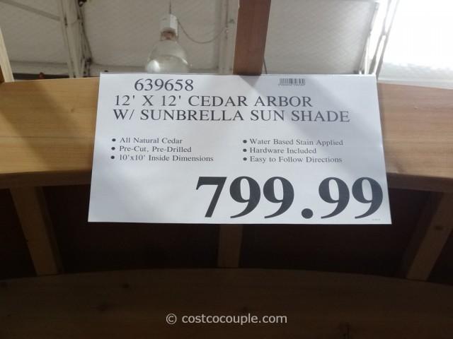... Yardistry Cedar Arbor With Sunbrella Sun Shade Costco 2 - Yardistry Cedar Arbor With Sunbrella Sun Shade